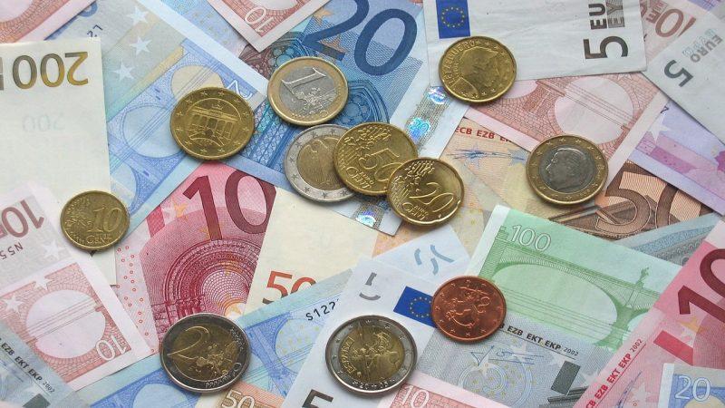 monety euro i banknoty